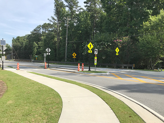Parsons Road sidewalk project complete