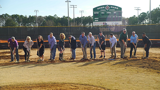 Construction begins on Ocee Park turf infields