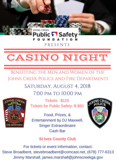 Public Safety Foundation Casino Night is ready to roll the dice on Aug. 4