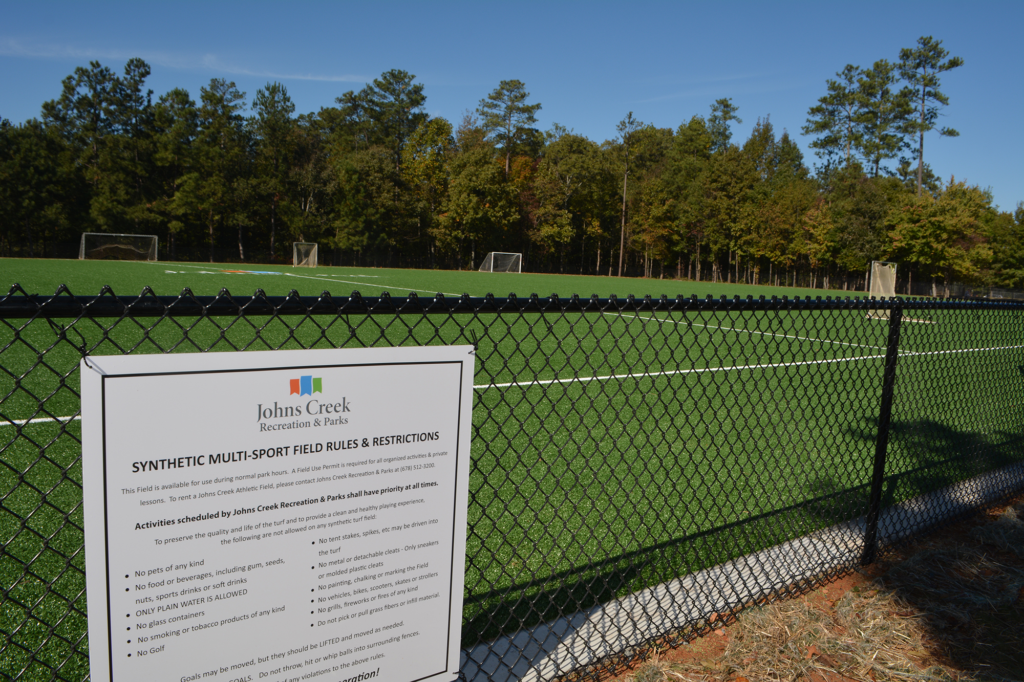 Johns Creek's second synthetic turf field opens, ready for play
