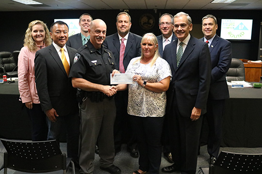 Sawnee Foundation presents grant to Johns Creek Public Safety Foundation