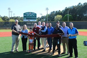 Turf infields ribbon cutting